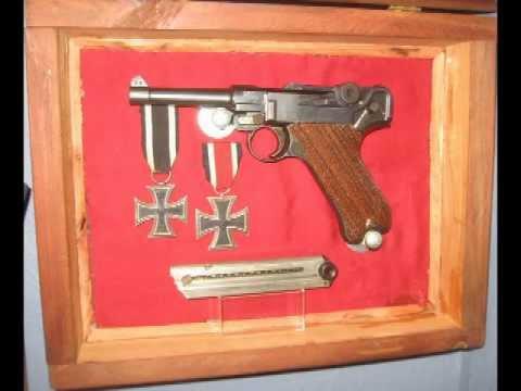 1916 German Luger, and 1939 Italian Beretta