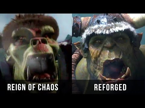 Warcraft 3: Reign Of Chaos Vs Reforged Cinematic Trailer [2002 - 2018] Graphics Evolution HD