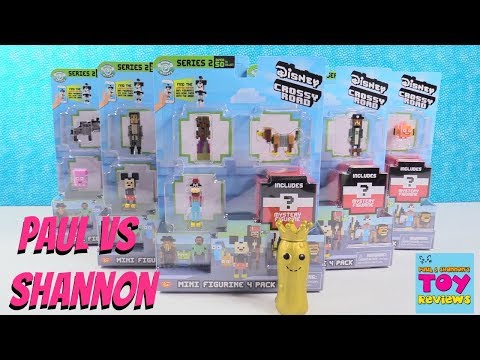 Paul vs Shannon Blind Bag Challenge Disney Crossy Road Series 2 Toy | PSToyReviews