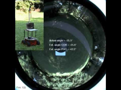 Phase Correlation for Dense Visual Compass from Omnidirectional Camera-Robot Images
