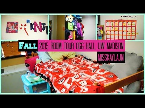 Fall 2015 Dorm Room Tour! Ogg Hall UW-Madison || MissKaylaJN