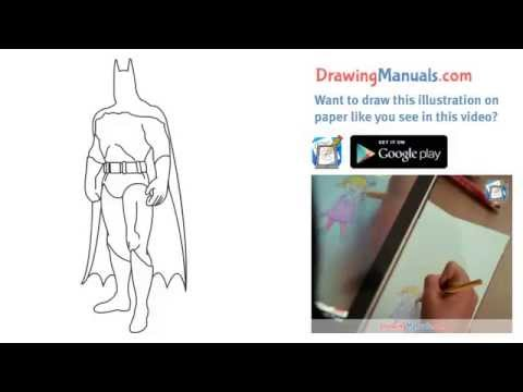 how to draw batman step by step youtube