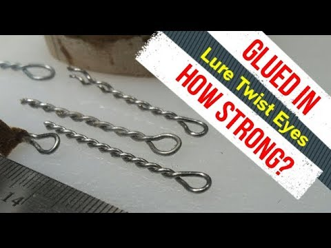 Lure hook eyes, how strong if glued?