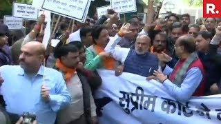 BJP Protests Against Rahul Gandhi, Demand Apology On Rafale Verdict | #ModiWinsOnRafale