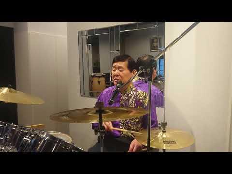 ブルースカイブルー【西城秀樹】壮大な曲🎵こんな素晴らしい曲を✨YouTube「ドラム歌唱数世界記録」1806曲目で😆/おがたひろし