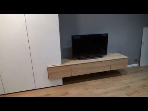 видео: Шкаф под потолок, фасады без ручек, открывание от нажатия