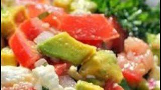 Салат с сыром Фету и Авокадо * Греческий Салат