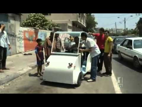 Palestine unveils electric car