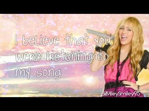 Hannah Montana - Been Here All Along (with Lyrics)