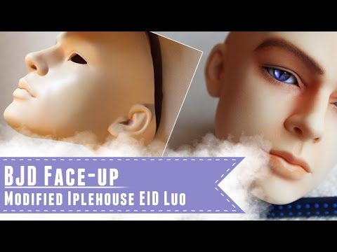 BJD faceup: Repainting Rune, my modified Iplehouse EID Luo