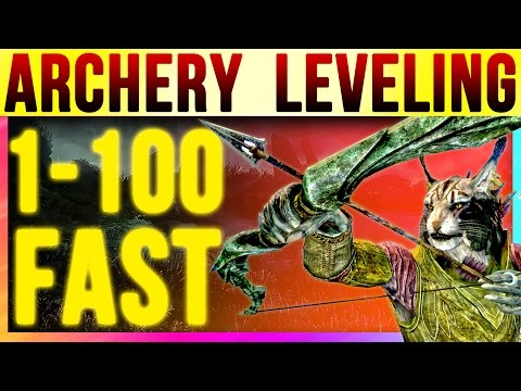 Skyrim Special Edition 100 Archery FAST At LEVEL 1 (Fastest Bow Skill Starter Guide Remastered)