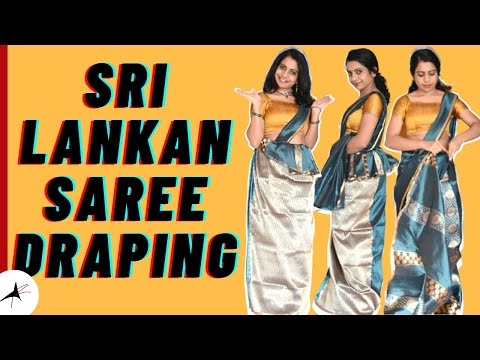 How To Wear Sri Lankan Saree | Draping With Tips | Arpitharai