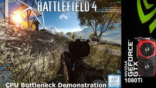 Battlefield 4 CPU bottleneck Demonstration Low settings 720P | Intel i7 8700K 5.2GHz