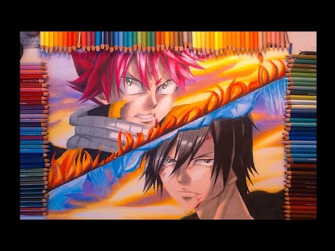 drawing-natsu-&-gray-~-fairy-tail-speed-drawing