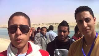 طلاب تجارة الاسماعيلية يهتفون تحيا مصرفى قناة السويس الجديدة
