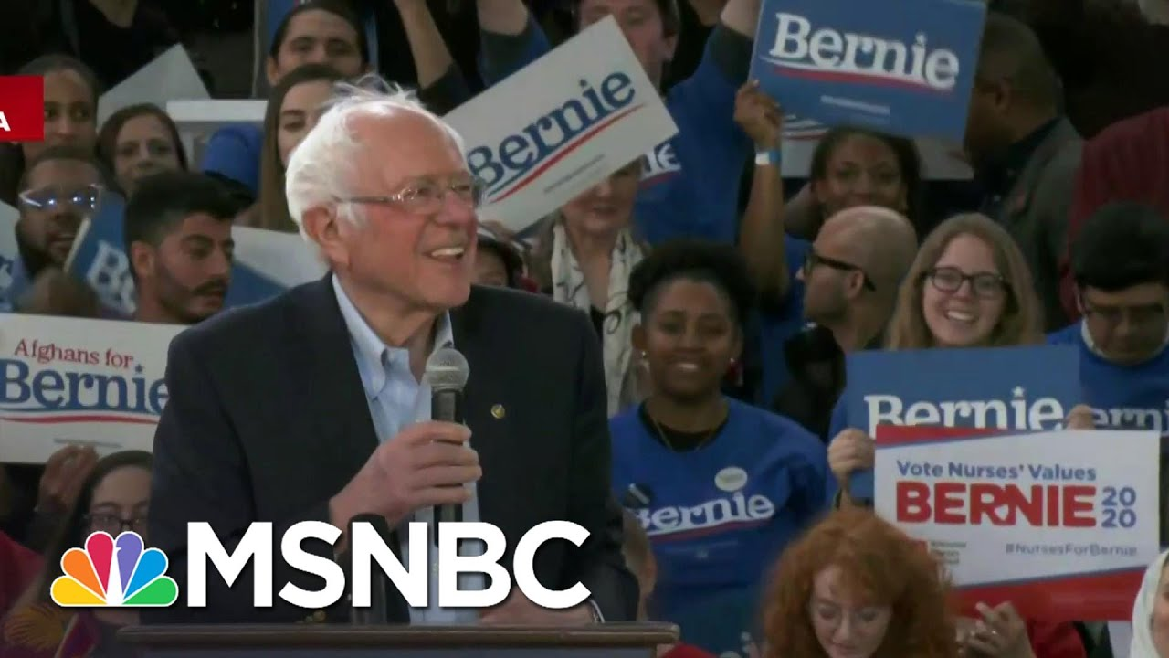 Bernie Sanders Confident Of Super Tuesday | Velshi & Ruhle | MSNBC