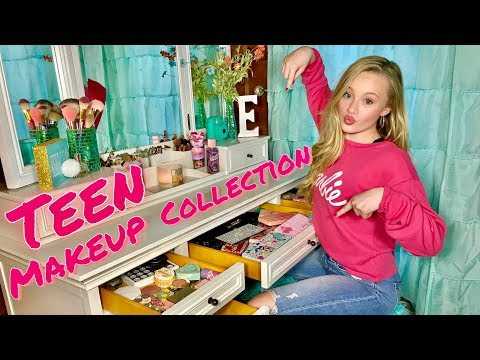 TEEN MAKEUP COLLECTION OF A 13 YEAR OLD | 2019 thumbnail