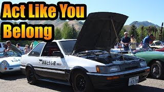 AE86 Sneaks Into Supercar Show