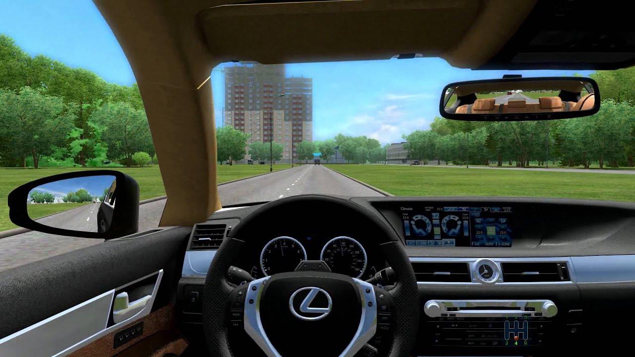 city car driving 1.3.1 lexus gs 350 f sport - youtube