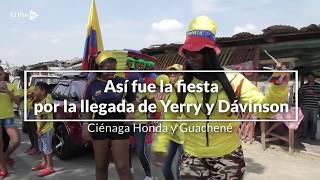 Rumba en Guachené para recibir a Yerry Mina y Dávinson Sánchez
