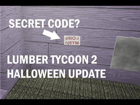 SECRET CODE? LUMBER TYCOON 2 HALLOWEEN