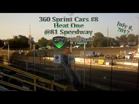 360 Sprint Cars #8, Heat, 81 Speedway, 2017
