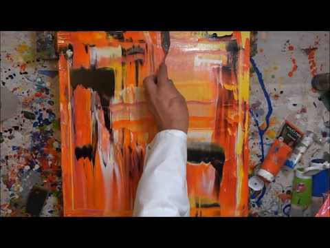 Tutorial Abstrakte Kunst (5) - Wir malen ein Bild - Acryl Spachtel-Technik - Painting Demo