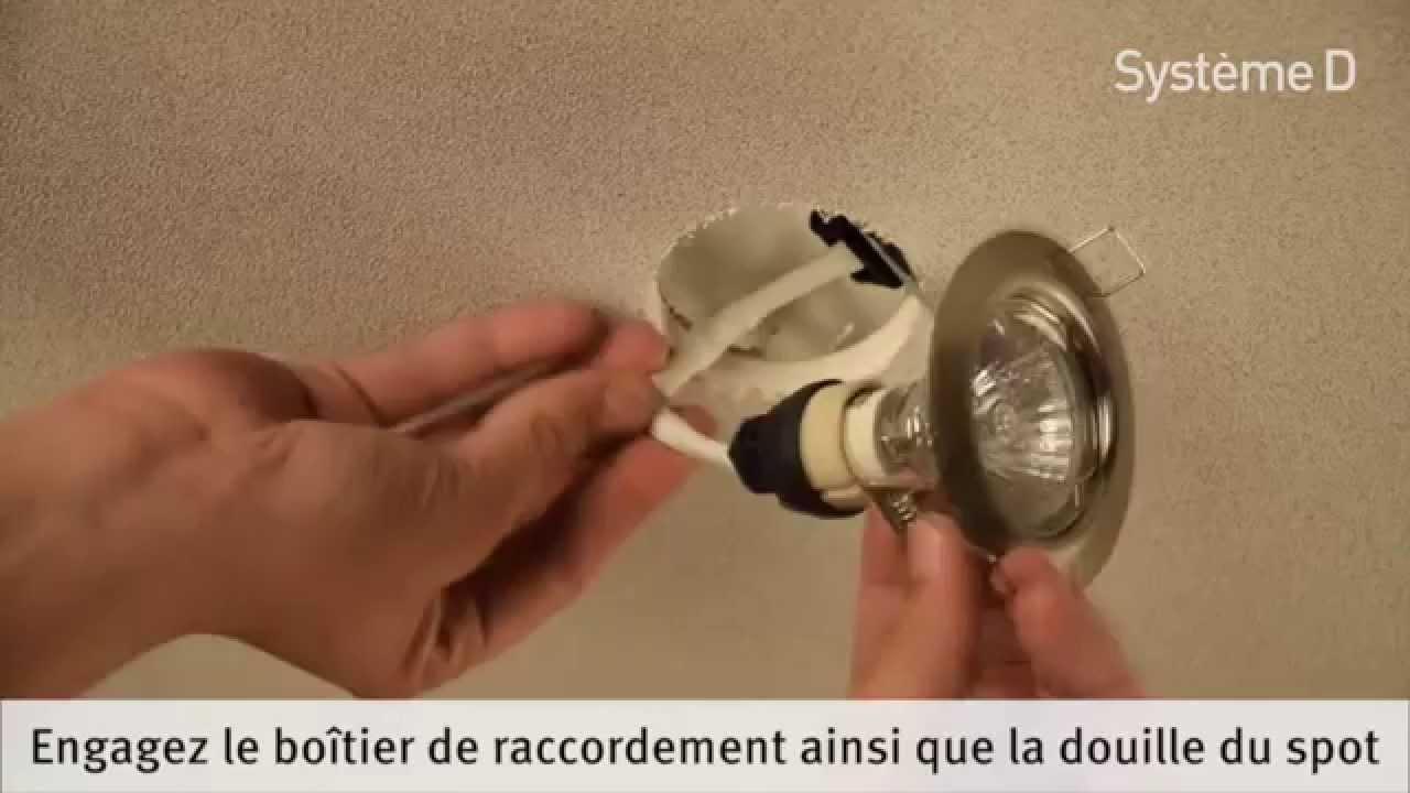 Charmant Comment Mettre Des Spots Dans Un Faux Plafond #4: Comment Poser Des Spots à Encastrer Dans Un Faux Plafond - YouTube