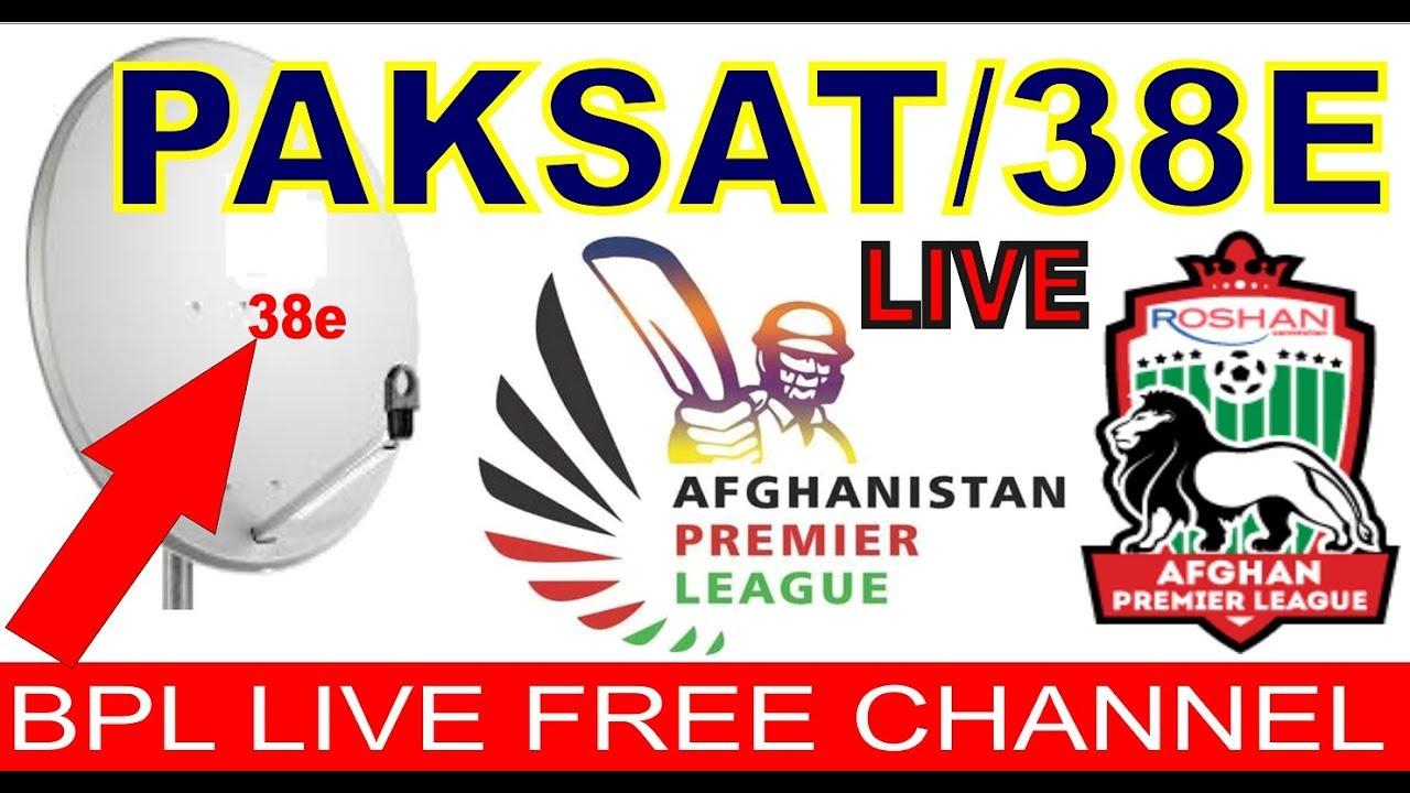 Afghan Premier League || Live On Paksat 38e Fta Channel 2018