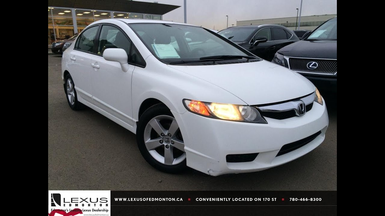 hight resolution of used white 2009 honda civic auto sport review grande cache alberta