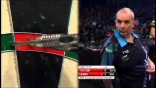 2015 Auckland Darts Masters Semi Final Taylor vs Lewis