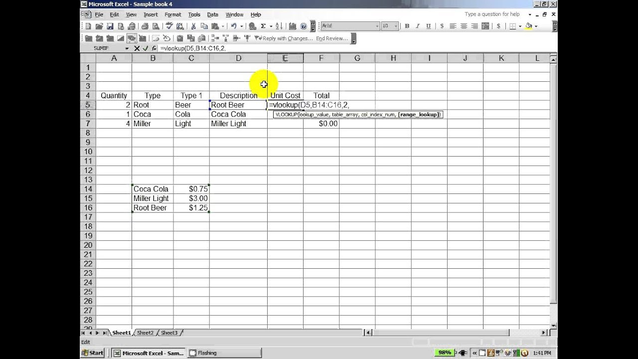 Excel 2003 How To Use The Concatenate Trim And Vlookup