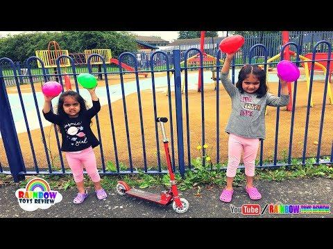 Ashu & Cutie Pretend Play In Children Playground - Egg Hunt Challenge | Toys For Kids