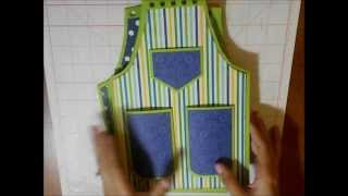 Apron Shaped Recipe Organizer And Stand Tutorial -