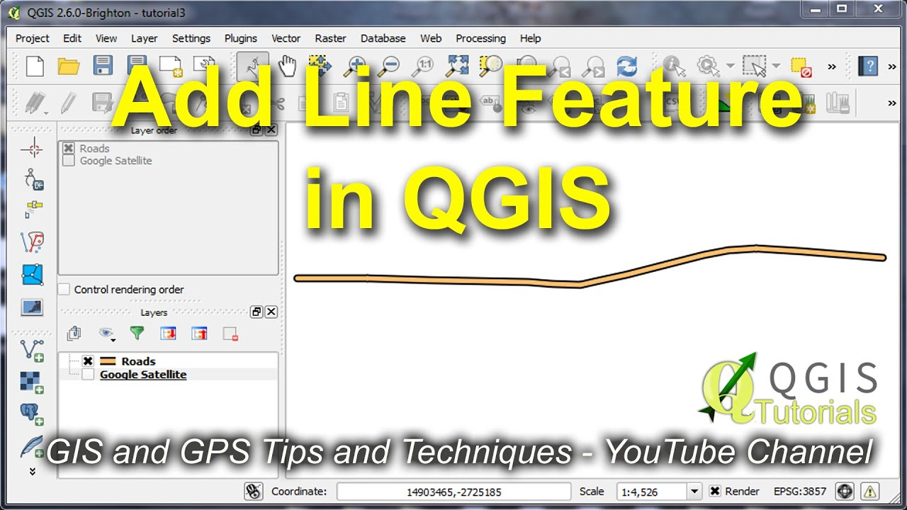 Drawing Lines In Quantum Gis : Create modify and label a line vector feature in qgis