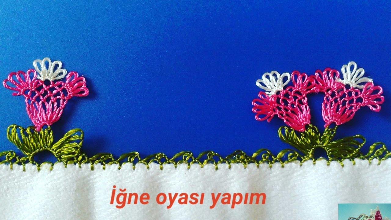İğne Oyası Osmanlı Lale Motifi Modeli Yapımı Videolu