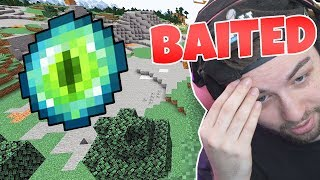 I got BAITED by an ENDER EYE in MINECRAFT