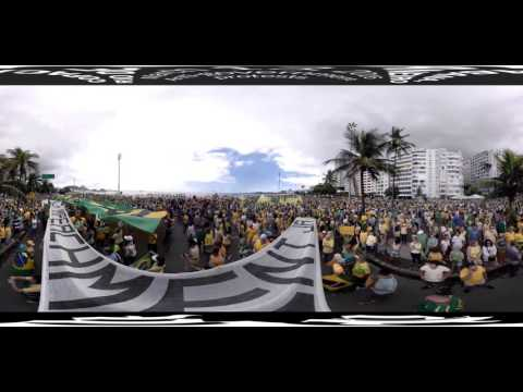 Watch Brazil's massive protests in 360º