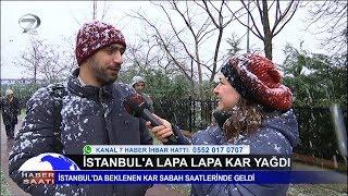 İstanbul a Lapa Lapa Kar Yağdı