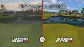 Tiger Woods PGA Tour 08-09 Comparison NEW!!