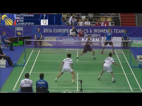 Badminton - Easton / Huang vs Lovang / Popov - (MD, Final) European U15 C'ships 2016