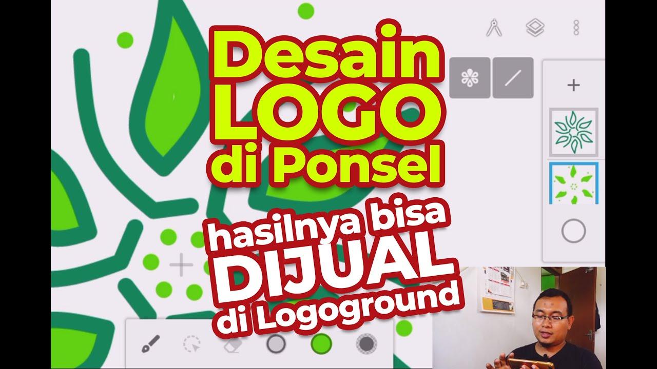 Desain Logo dengan HP Android dan bisa dijual di Logoground