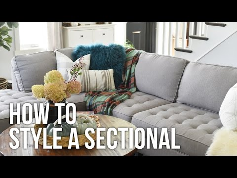 Tip Tuesday: How to Style a Sectional - YouTube