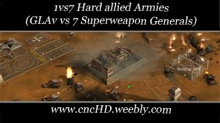 [C&C Zero Hour] 1vs7 - GLAv vs 7 Superweapon Generals