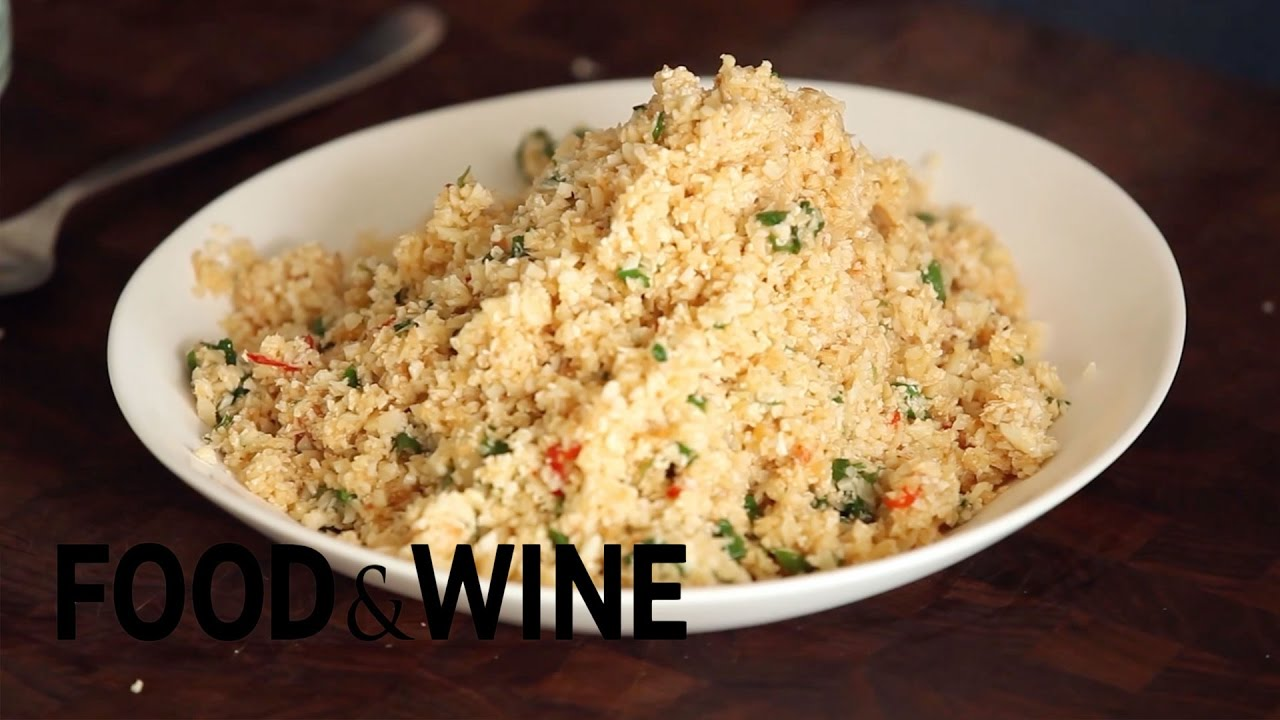 How to make cauliflower fried rice mad genius tips food wine how to make cauliflower fried rice mad genius tips food wine ccuart Image collections