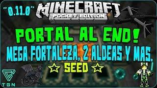 [0.14.1] End Portal! Mega Fortaleza Y Aldeas MCPE