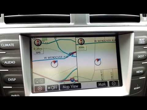 Lexus-2007 IS250(w/ nav) Change screen orientation