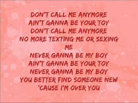 Girlicious - Over You (Lyrics on screen)
