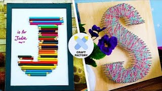 How To Make Giant Letter Decals | Cheap Home Decor Ideas | Cool Crafts To Make | Craft Factory
