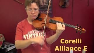 Comparing Obligato, Prim, Pro Arte Violin Strings (same violin)